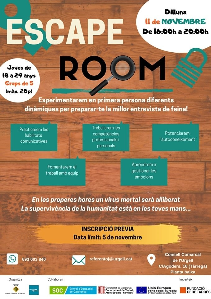 ESCAPE ROOM A TÀRREGA